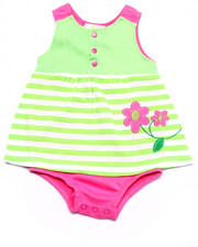 Dresses - STRIPED DAISY DRESS BODYSUIT (NEWBORN)