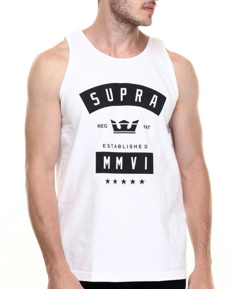 Ur-ID 220175 Supra - Men White Banner Tank