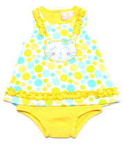 Dresses - POLKA DOT KITTY DRESS BODYSUIT (NEWBORN)