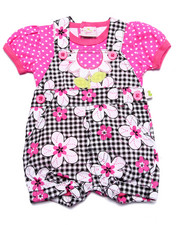 Sets - DAISIES SHORTALL SET (NEWBORN)