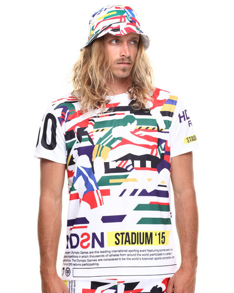 Hudson Nyc - Men White Stadium Series S/S Tee