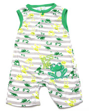 Boys - HOPPIN' FROGS ROMPER (NEWBORN)