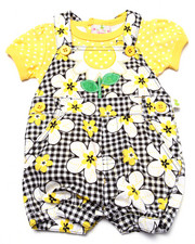 Dresses - DAISIES SHORTALL SET (NEWBORN)