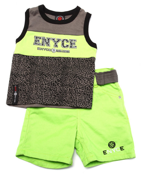Enyce - Boys Lime Green 2 Pc Tank & Shorts Set (Infant)