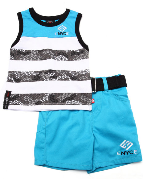 Enyce - Boys Blue 2 Pc Tank & Shorts Set (Infant)