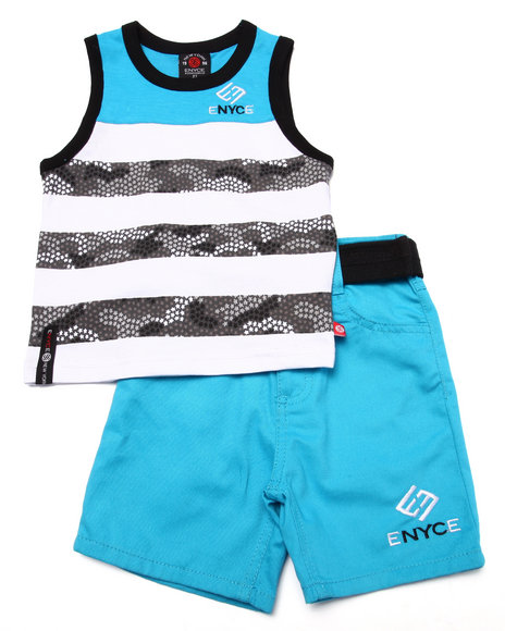 Enyce - Boys Blue 2 Pc Tank & Shorts Set (2T-4T)