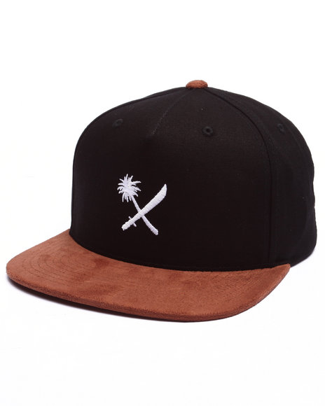 Us Versus Them Men Mini Crosscut Snapback Cap Black