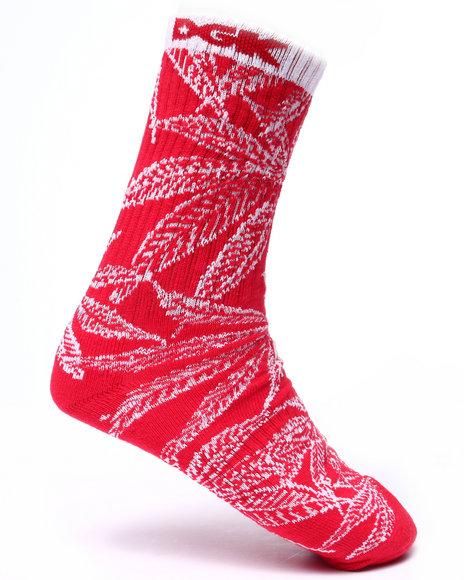 Dgk Men Cannabis Cup Crew Socks Red