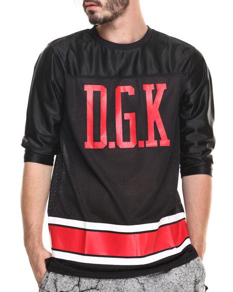 Ur-ID 220183 DGK - Men Black Concrete Grown Custom 3/4 Sleeve Jersey