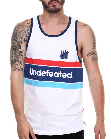 Undftd - Men White Pista Tank Top