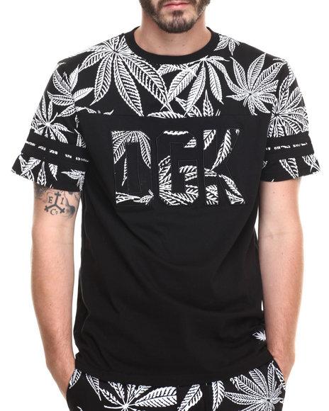 Ur-ID 220248 DGK - Men Black Cannabis Cup Custom S/S Knit Tee