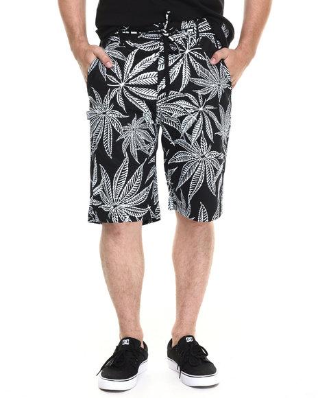 Ur-ID 220252 DGK - Men Black Cannabis Cup Chino Shorts