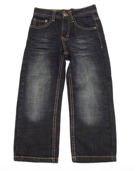 Akademiks - Boys Medium Wash Fanback Pocket Jeans (4-7) - $31.99