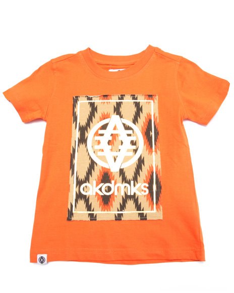 Akademiks - Boys Orange Aztec Logo Tee (4-7) - $24.99