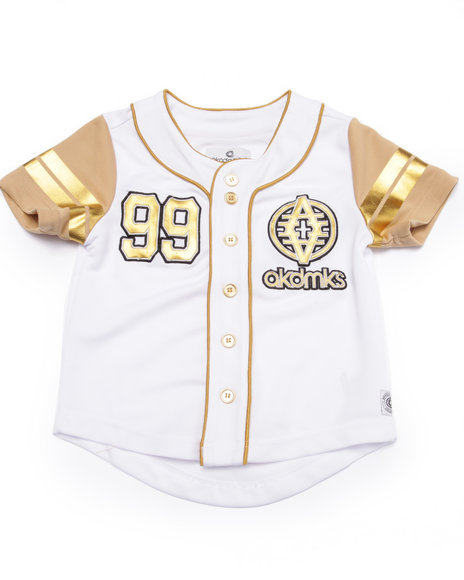 Akademiks - Boys White Baseball Shirt (4-7)