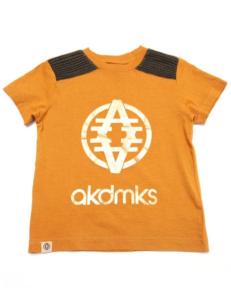 Akademiks - Boys Khaki Foil Logo Tee (4-7)