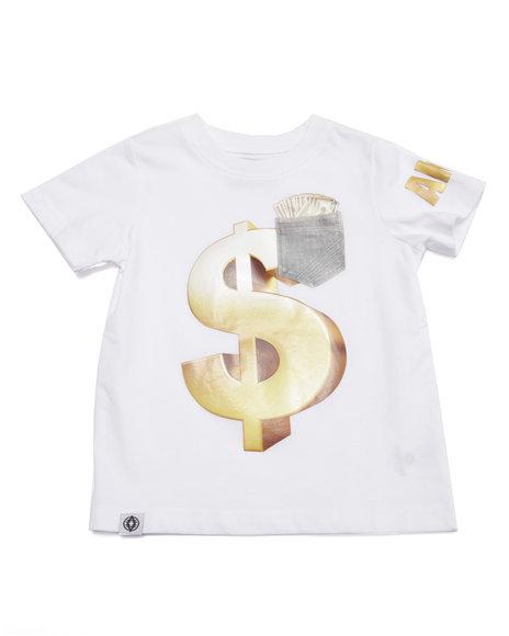 Akademiks - Boys White Money Tee (2T-4T) - $10.99
