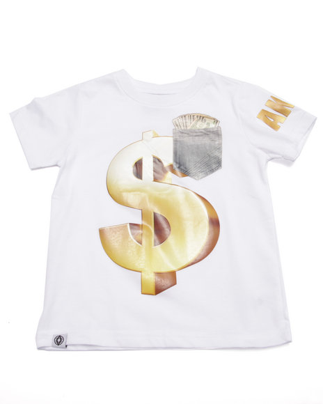 Akademiks - Boys White Money Tee (4-7)
