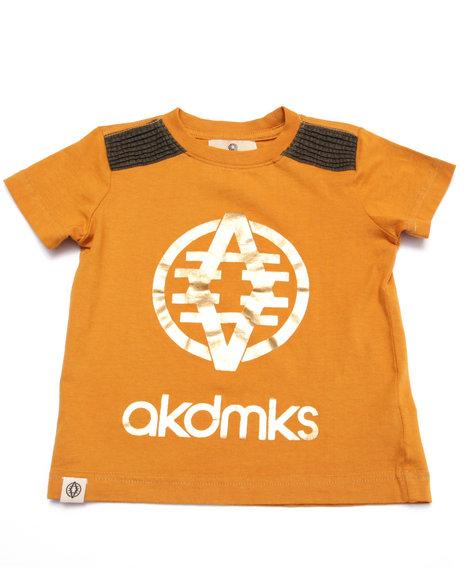 Akademiks - Boys Khaki Foil Logo Tee (2T-4T)