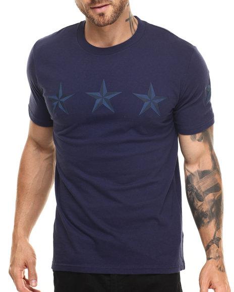 Rocawear Blak - Men Navy Blak Star Line Tee - $28.00