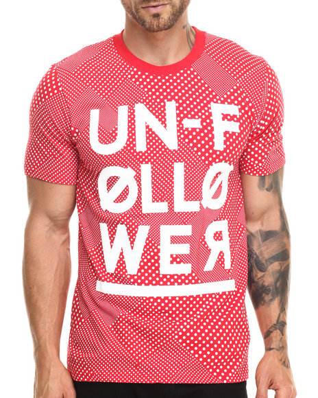 Ur-ID 220267 Rocawear BLAK - Men Red Unfollower Tee