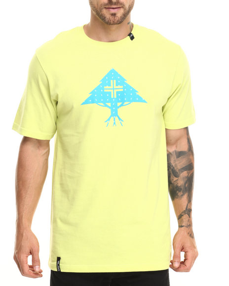Ur-ID 220279 LRG - Men Yellow Ditzy Tree T-Shirt