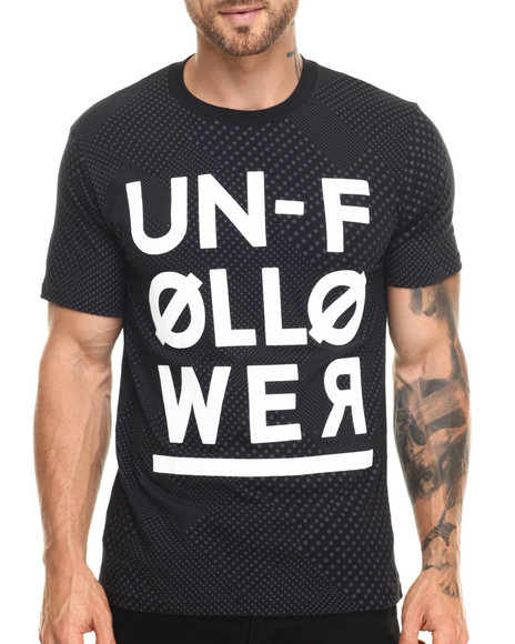 Ur-ID 220280 Rocawear BLAK - Men Black Unfollower Tee