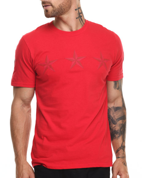 Ur-ID 220282 Rocawear BLAK - Men Red Blak Star Line Tee