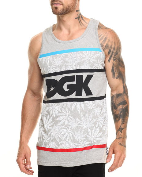 Ur-ID 220284 DGK - Men Grey Cannabis Cup Custom Tank