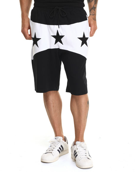 Ur-ID 220298 Hudson NYC - Men Black North Star Drawstring Shorts