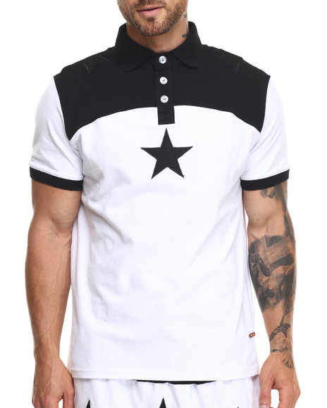Ur-ID 220305 Hudson NYC - Men Black North Star S/S Polo