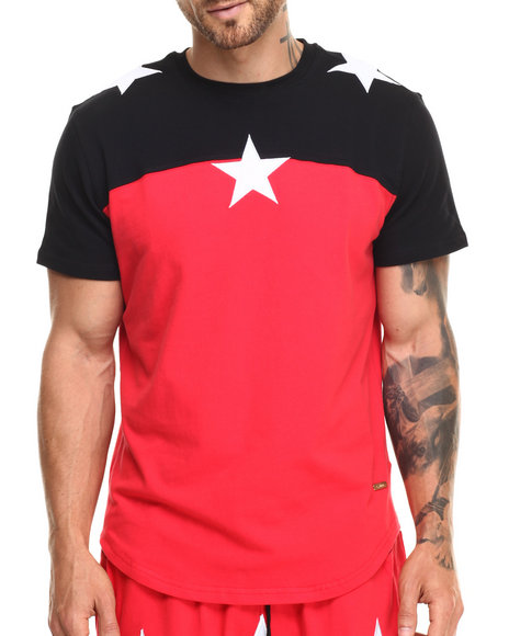 Ur-ID 220306 Hudson NYC - Men Red North Star S/S Tee