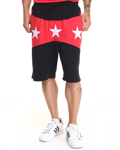 Ur-ID 220314 Hudson NYC - Men Red North Star Drawstring Shorts