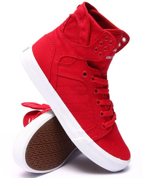 Ur-ID 220123 Supra - Men Red Skytop Sneakers