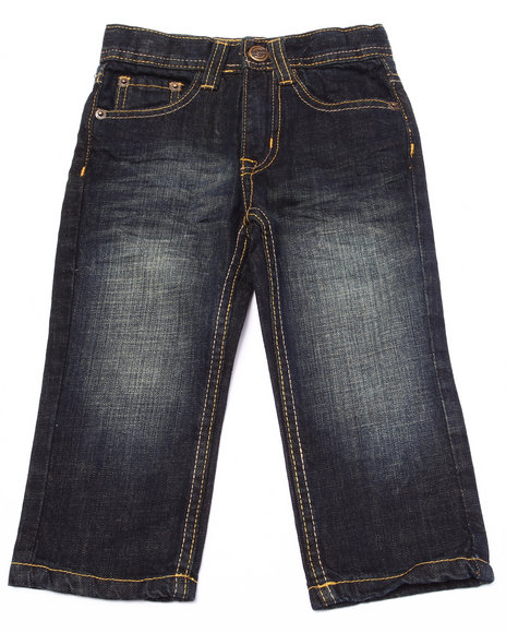 Akademiks - Boys Medium Wash Fanback Pocket Jeans (2T-4T) - $30.99