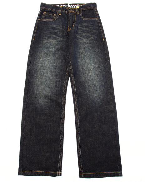 Akademiks - Boys Medium Wash Fanback Pocket Jeans (8-20) - $33.99
