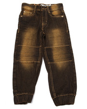 Bottoms - MOTO DENIM JOGGERS (4-7)