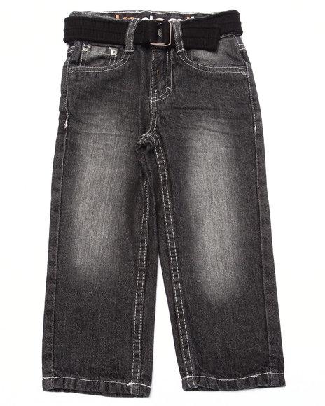 Akademiks - Boys Dark Wash Heavy Acid Wash Jeans (2T-4T)