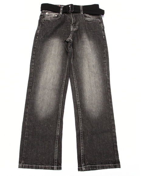 Akademiks - Boys Dark Wash Heavy Acid Wash Jeans (8-20)