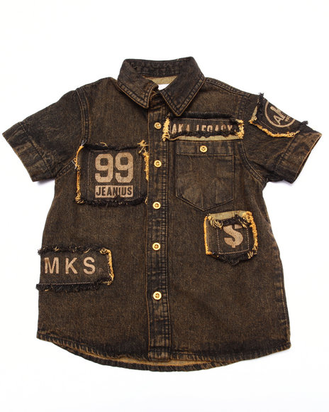 Akademiks - Boys Dark Wash S/S Denim Woven (4-7)