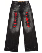 Arcade Styles - DISTRESSED BUFFALO CHECK JEANS (8-20)