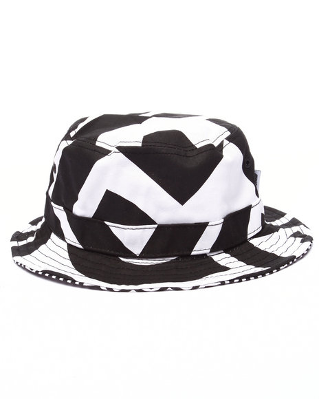 Akoo - Men White Metric Reversible Bucket Hat