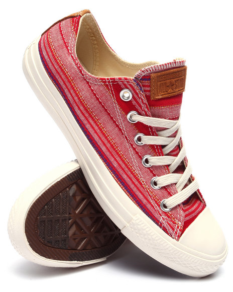 Ur-ID 220317 Converse - Men Red Chuck Taylor All - Star Crafted Textile Ox