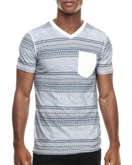 Buyers Picks - Men Off White Treaking S/S Pocket Tee