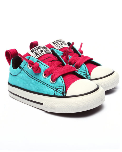 Converse - Girls Teal Chuck Taylor All Star Street Sneakers (5-10)