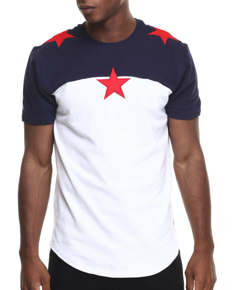 Hudson Nyc - Men Navy North Star S/S Tee
