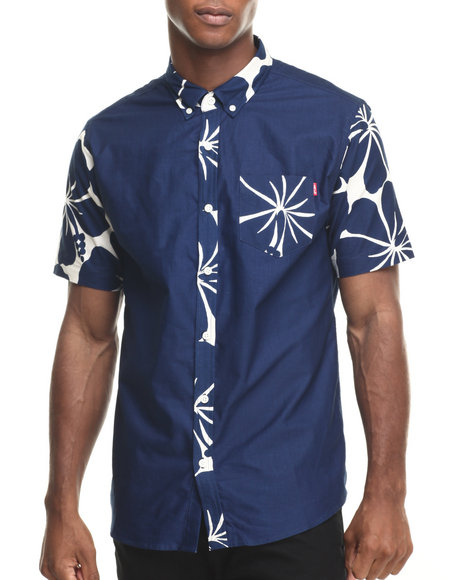Ur-ID 220344 Acapulco Gold - Men Navy Oahu S/S Button-Down