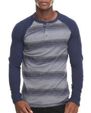 Men - Slub Stripe Henley