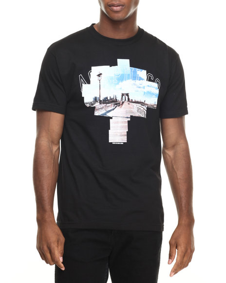 Ur-ID 220363 Acapulco Gold - Men Black David Corio X Ag Take It To The Bridge Tee
