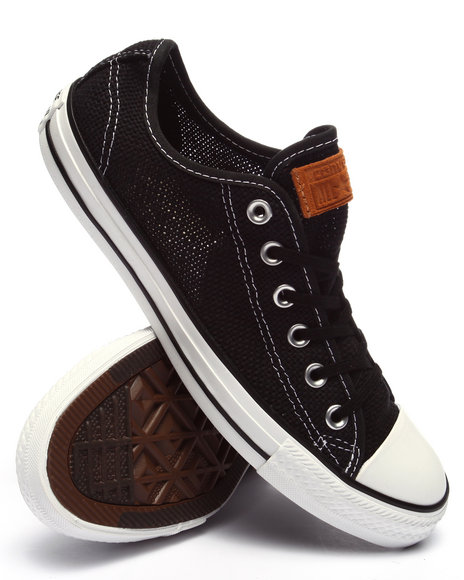 Ur-ID 220364 Converse - Men Black Chuck Taylor All Star Summer Woven Ox